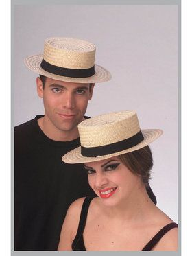 Straw Sailor Economy Hat for Adults