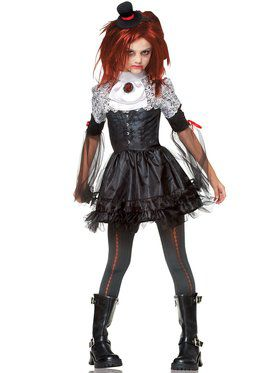 Edgy Vamp Girl's Costume