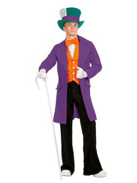 Adult's Electric Mad Hatter Costume with Pants