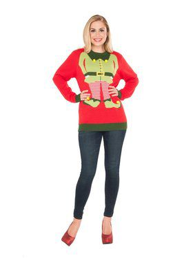 Elf Adult Red Sweater