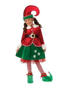 Kids Elf Girl Costume