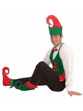 Elf Hat and Shoe Covers Kit