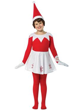 Elf on the Shelf Dress Costume For For Children