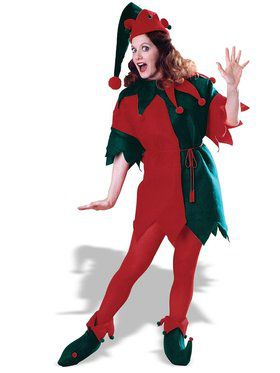 Elf Tunic Set Red Green Costume