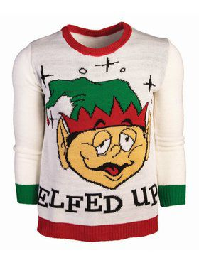 Elfed Up Christmas Sweater Costume Top