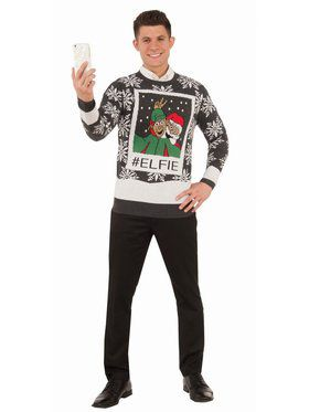 Elfie Christmas Sweater Costume Top
