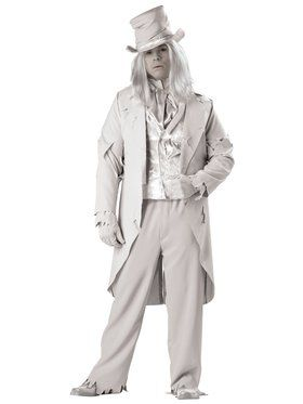 Elite Mens Plus Ghostly Gent Costume
