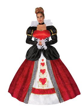 Womens Plus Size Queen of Hearts Costume