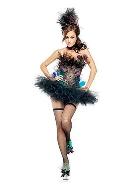 Elite Sexy Peacock Adult Costume