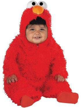 Plus Size Elmo Plush Deluxe Costume