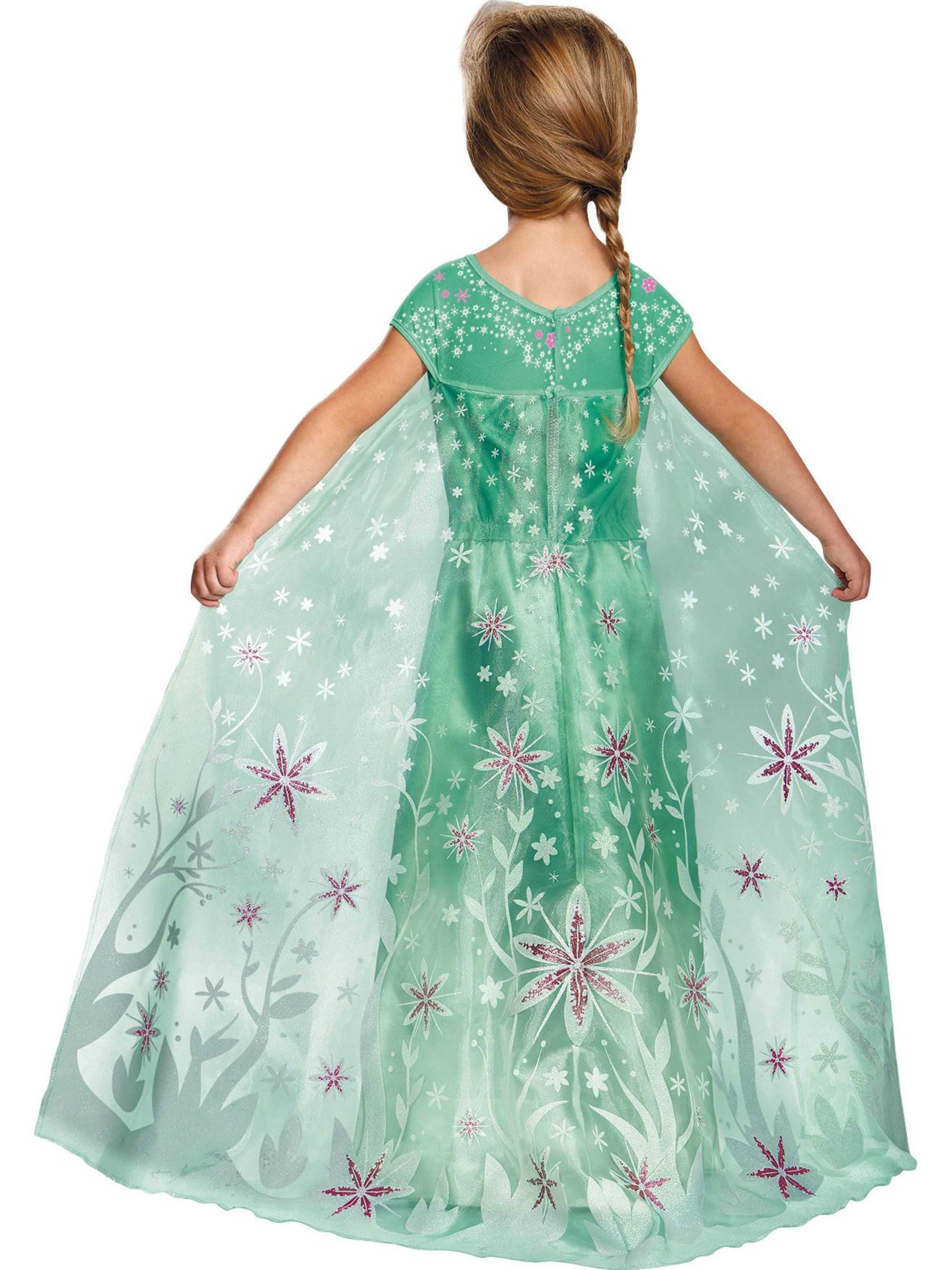 7//8..°•´¨`» «´¨`• Princess Frozen Fever Elsa Costume