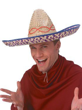 Straw Embroidered Sombrero for Adults
