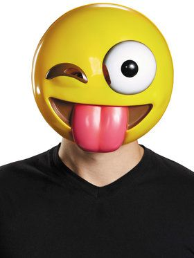 Emoji Tongue Out Mask