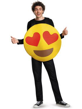 Emoticon Heart Eyes Sandwich Board Adult Costume