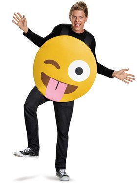 Emoticon Tongue Out Adult Costume