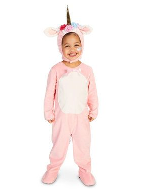 Enchanted Pink Unicorn Costume For Toddlers