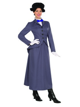 Women's Adult English Nanny Costume