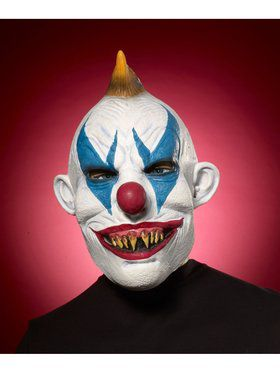 Adult Evil Clown Green Mask