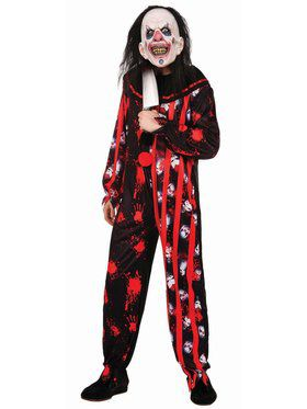 Adult Evil Clown Suit Costume