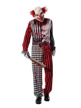 Crazy Killer Clown Costume