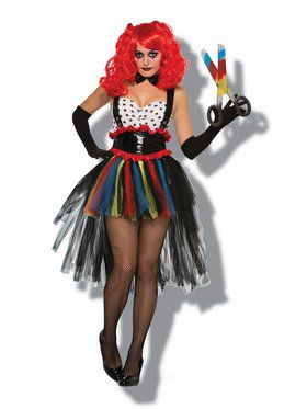 Evil Girlie Clown Women's Costume