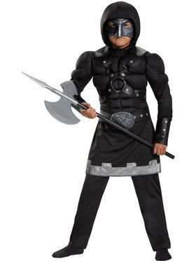 Executioner Muscle Chest Boy's Costume
