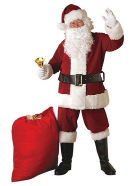 Extra Large Crimson Regal Plush Santa Suit Adult Costume