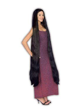 Extra Long Black Adult Wig