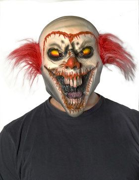 Adult Face Off Clown Mask