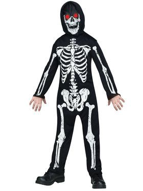 Fade In And Out Skeleton Phantom Boy's Costume