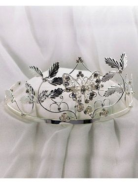 Fairy Silver Tiara with Stones