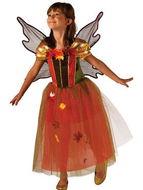 Fall Fairy Light Up Costume for Girls