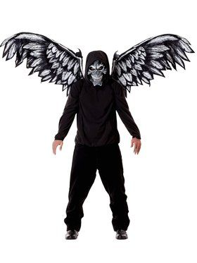 Fallen Angel Mask and Wings Adult