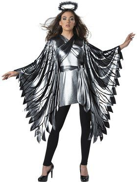 Womens Fallen Angel Poncho Costume