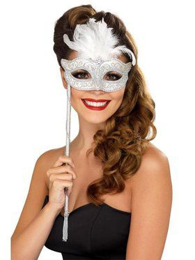 Fantasy Baroque Stick Mask