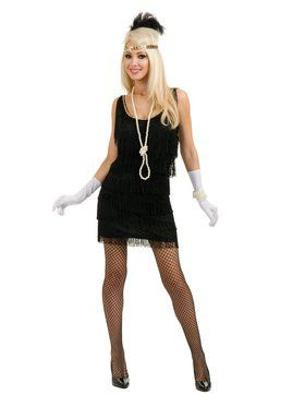 Women's Black Fashion Flapper Costume