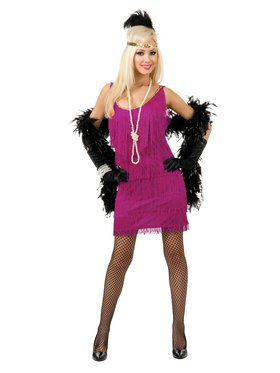 Women's Fuchsia Fashion Flapper Costume