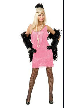 Women's Pink Fashion Flapper Costume