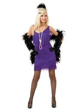 Women's Purple Fashion Flapper Costume