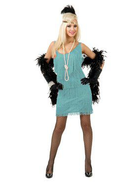 Women's Blue Fashion Flapper Costume