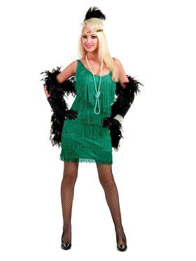 Women's Jade Fashion Flapper Costume