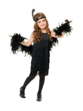 Girl's Fashionable Flapper Costume