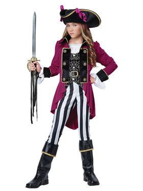 Fashion Pirate Girl's Costume