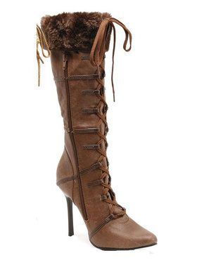 Faux Fur Trimmed Knee High Boot Adult