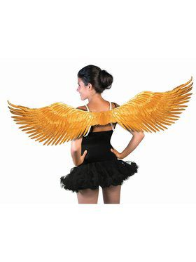 Adult Feather Wings Gold