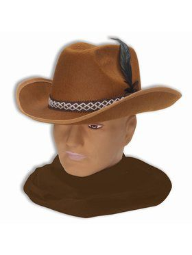 Felt Cowboy Hat Brown Accessory