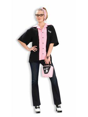 Female Bowlers Shirt Adult Costume