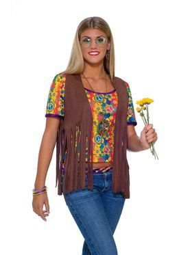 Female Hippie Vest Adult Costume