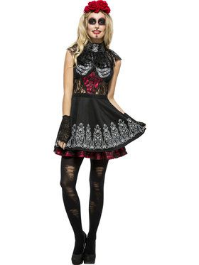 Fever Day of the Dead Womens Costume