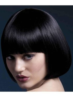 Fever Mia Short Black Wig With Bangs